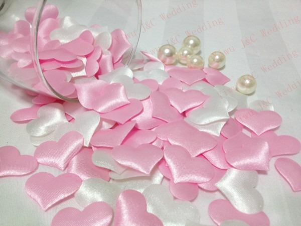 white and pink hearts for wediding berkat