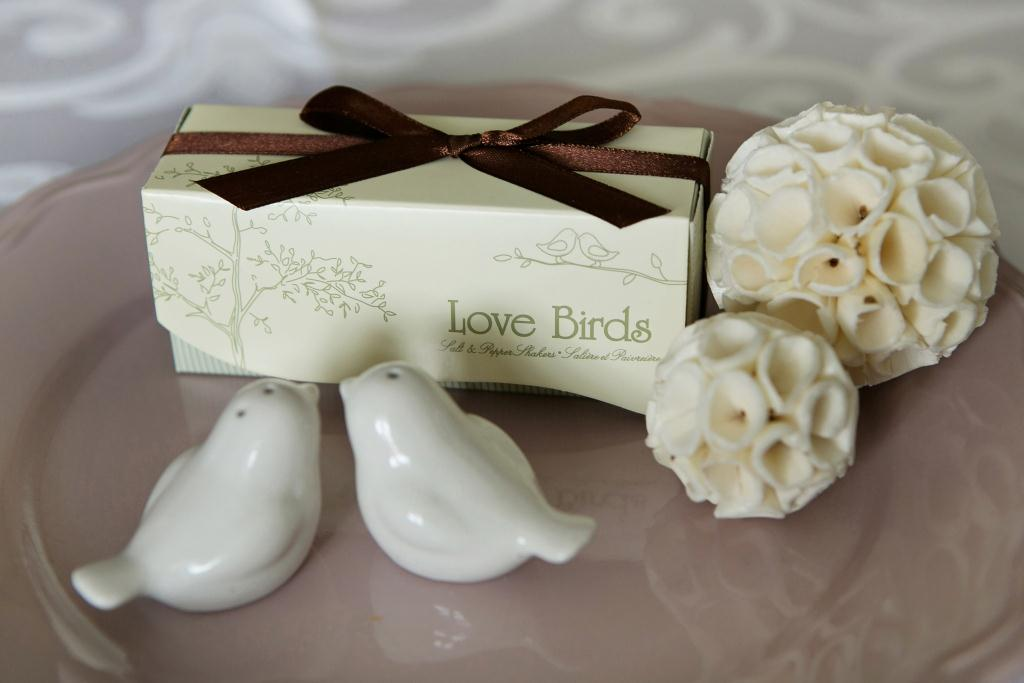 Classy White Love Birds Malay Wedding Favours Singapore