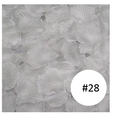 white rose flower petal for wedding aisle singapore