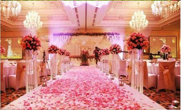 Silk Rose Petal Wedding Table Bed Aisle Decoration