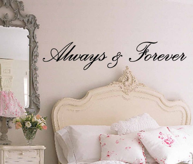 Wall Decoration For Wedding Ideas : Always and forever wedding bedroom decoration berkat