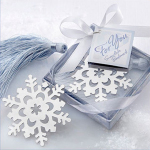 Snowflake bookmark wedding door gift berkat sg