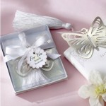 butterfly silver theme berkat with white ribbon