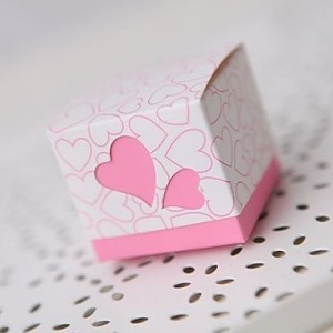 pink wedding box