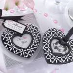 matching berkat black and white wedding theme