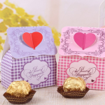 wedding favor singapore heart pink and purple theme
