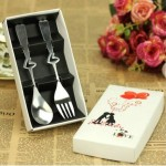 fork and spoon favors metal cutlery
