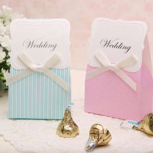 Wedding Gift Box Singapore : Polka Dot + Striped Wedding Favor Box - Berkat Kahwin Singapore